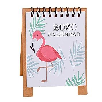 Ruikey Calendario De Mesa 2020 Calendario Sobremesa Para La Decoraci/ón De Escritorio,#5