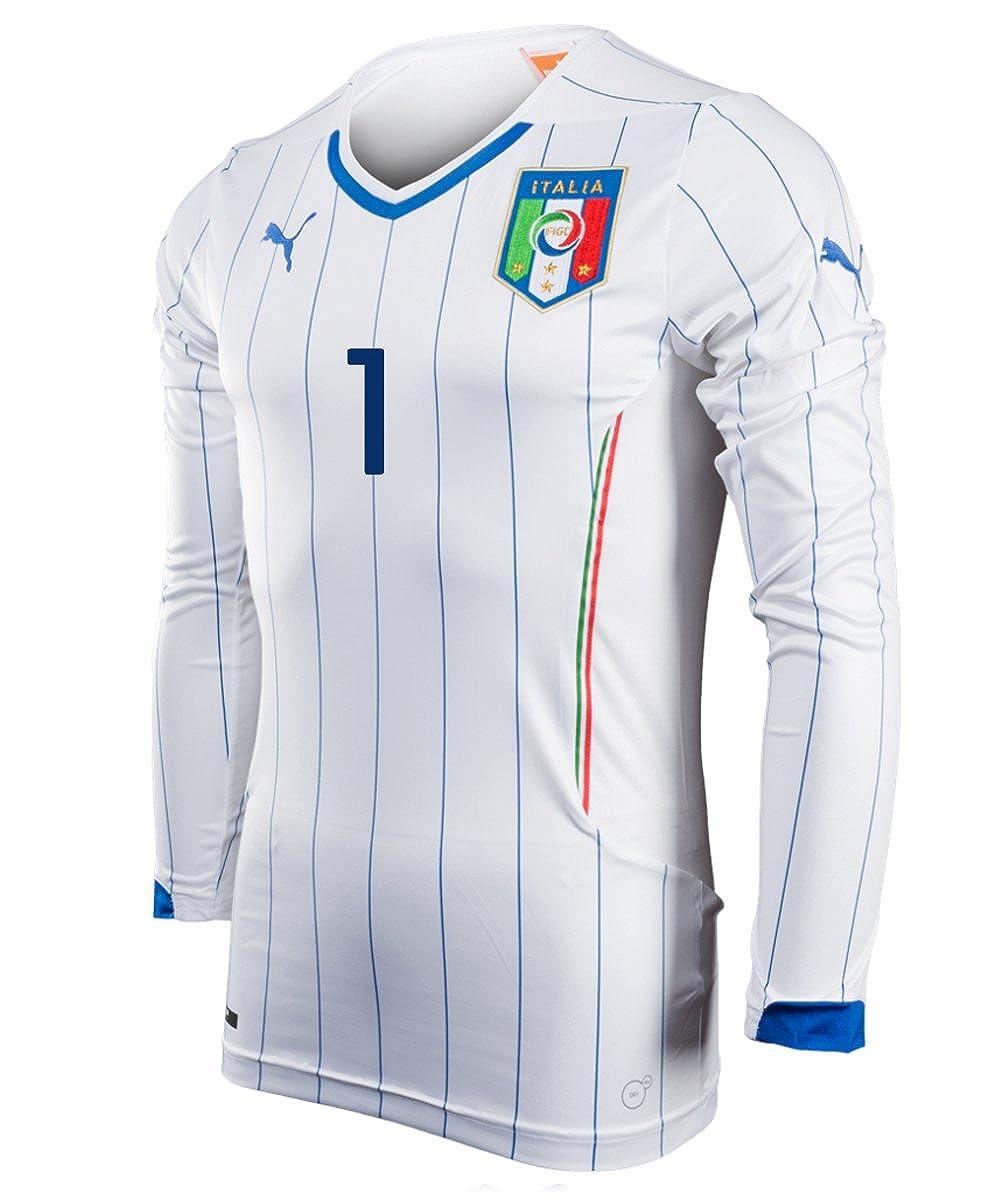 f9f11d346e5 Amazon.com  Puma Buffon  1 Italy Away Jersey Long Sleeve World Cup 2014   Clothing