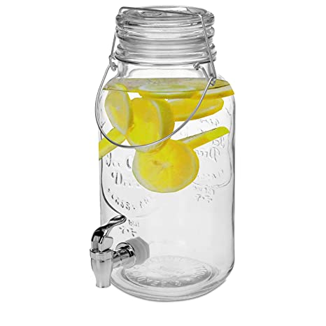 Dispensador de bebidas 4 litros Ø14 X H32 cm Incluye grifo Zumo dispensador dispensador de agua
