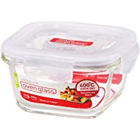 LOCK & LOCK Ovenglass Airtight Heat Resistant Glass Square Food Storage Container
