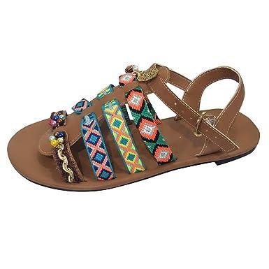 61627fa932ac Amazon.com  Women Flat Sandals Summer