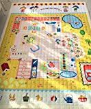 Play House Villa Large Play Mat for Kids Gilrs, Non-Toxic Anti-slip Hypoallergenic - Cotton Rectangle 60x78 inch by HugeHug