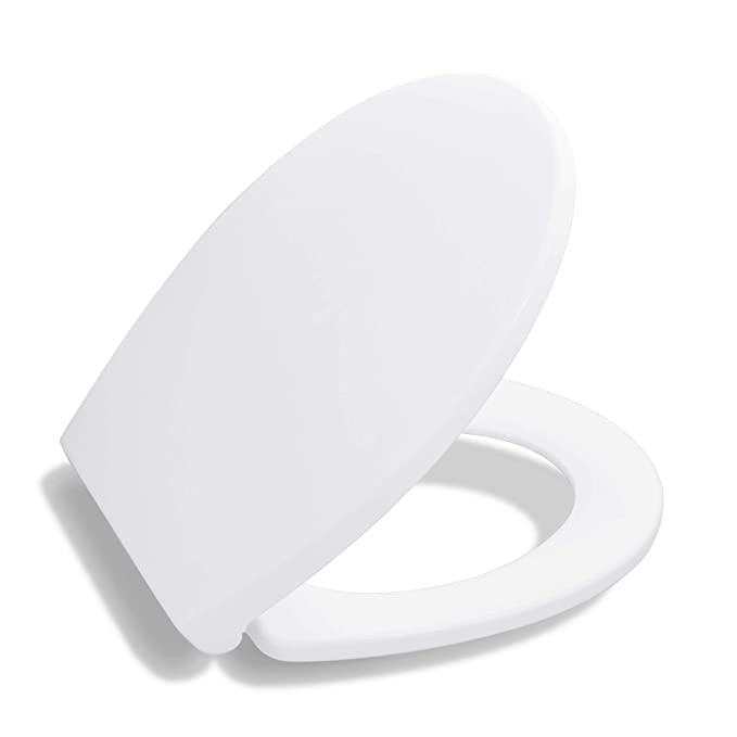 3. Bath Royale Premium Round Toilet Seat with Cover
