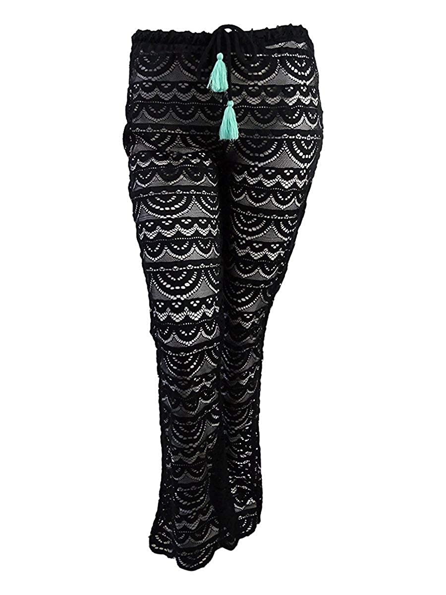 0a880346e1 Miken Juniors Scalloped Crochet Cover-Up Pants at Amazon Women's Clothing  store: