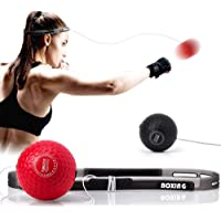 TEKXYZ Boxing Reflex Ball, 2 Difficulty Level Boxing Ball with Headband, Softer Than Tennis Ball, Perfect for Reaction…
