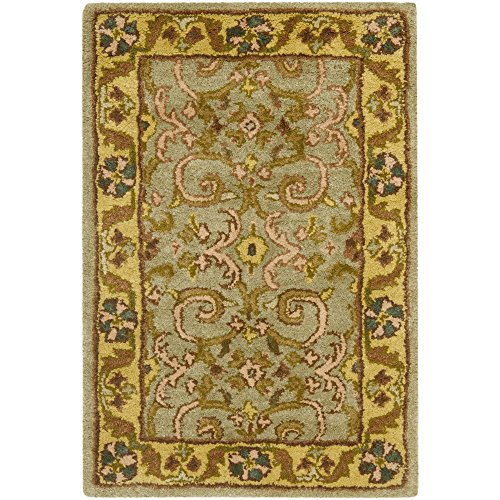 Safavieh Heritage Collection HG924A Handcrafted Traditional Oriental Green and Gold Wool Area Rug (3