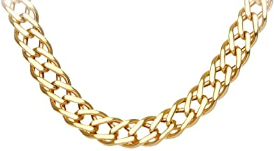 Citerna 9ct Yellow Gold Chunky Double Curb Bracelet - 7mm width nGvSgChbl