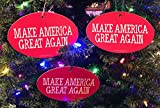Quantity 3 - PRESIDENT DONALD TRUMP CHRISTMAS TREE ORNAMENT - MAKE AMERICA GREAT AGAIN 4'x6'