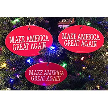 quantity 3 president donald trump christmas tree ornament make america great again 4