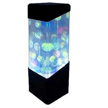 Yosoo medusas Peces tropicales de bola de agua tanque de acuario luces LED relajante lámpara de estado de ánimo noche: Amazon.es: Productos para mascotas