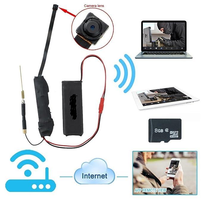 Cámara espía Full HD 1080p, con WiFi, 3G, internet y sensor de movimiento, tarjeta microSD de 8 GB incluida. Código: Z5S CW137: Amazon.es: Bricolaje y ...