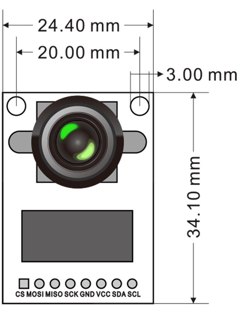 Arducam Mini Module Camera Shield With Ov2640 2 Wireless Sd Arduino Schematic Megapixels Lens For Uno Mega2560 Board Photo
