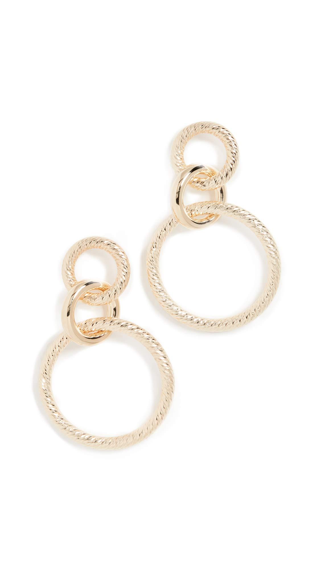 Jennifer Zeuner Jewelry Women's Wes Earrings, Gold Metal, One Size
