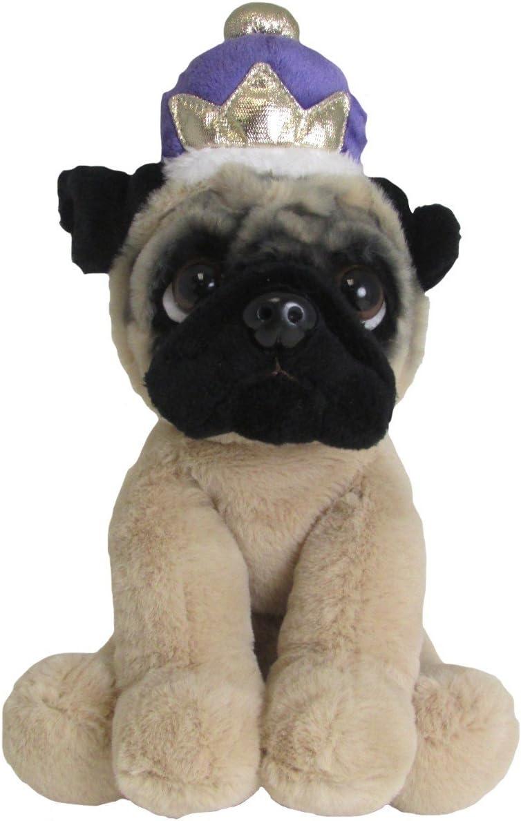 Realistic Pug Stuffed Animal, Amazon Com Kids Preferred Doug The Pug Royal Crown Large Stuffed Animal 10 Toys Games