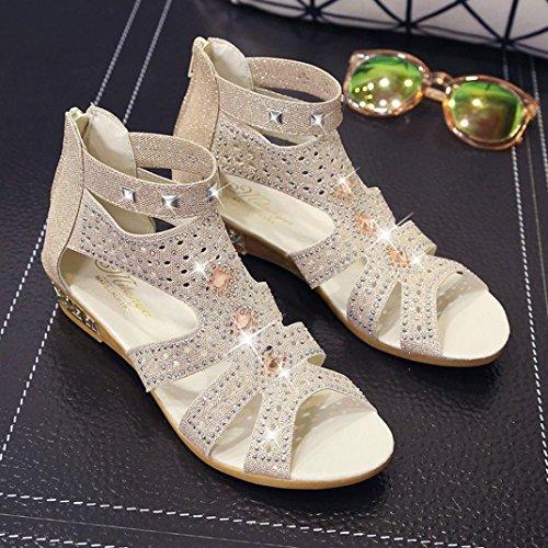 Sandali Sandali Donna Ragazze Elegante con beige Primavera Beauty Estate Zeppa da Donna Donna Scarpe Donna Infradito Estivi con Luo Zeppa da w0tTgP