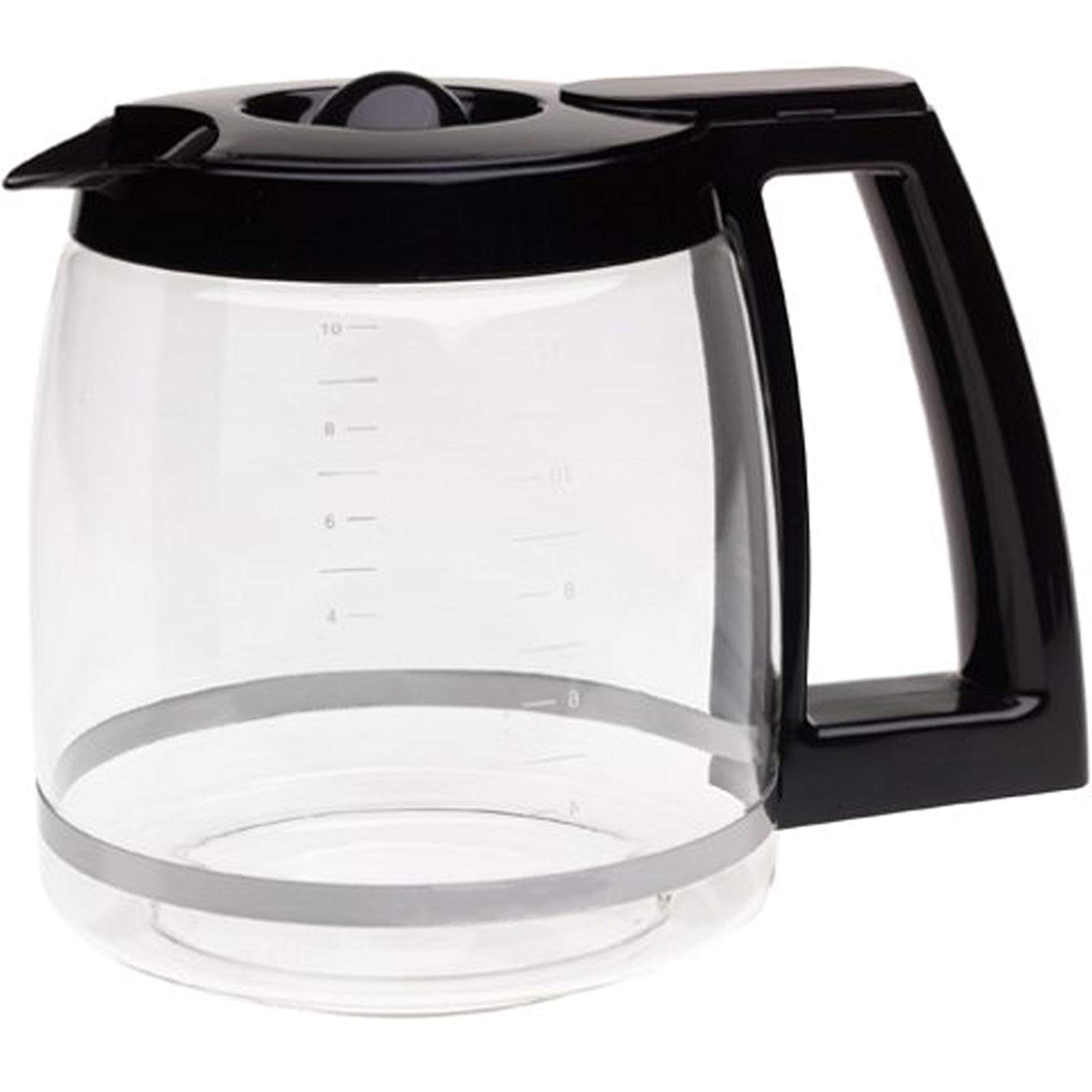 First4Spares Replacement Coffee Maker Machine Glass Carafe Jug for Cuisinart DCC-1200PRC, Black