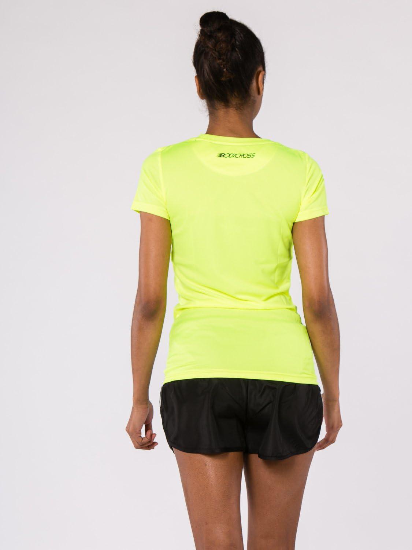 BodyCROSS T-Shirt Running Paz2 Jaune Fluo