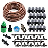 KORAM Easy Set 50ft 1/4'' Blank Distribution Tubing Irrigation Gardener's Greenhouse Plant Watering Atomizing Nozzle Mister Drip Kit Accessories Cooling Suite Garden Gifts IR-G