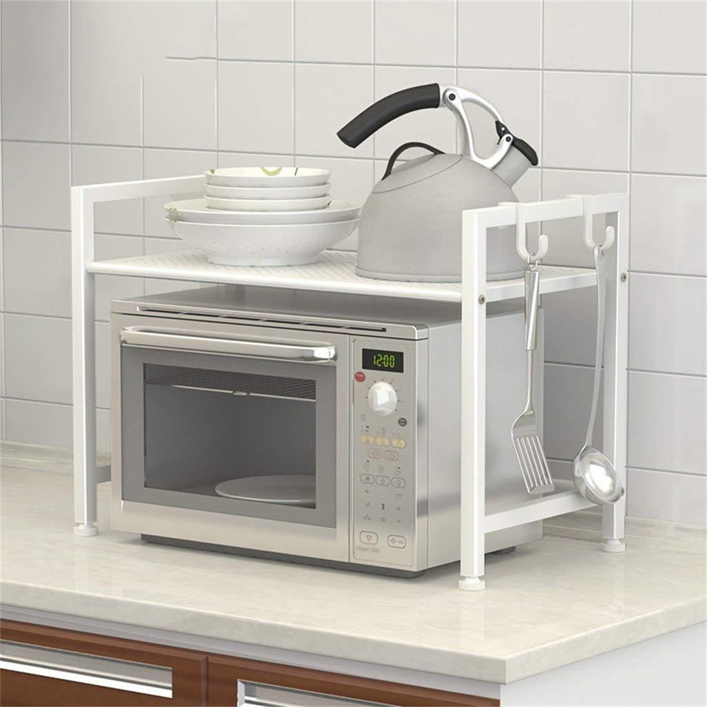 100% autentico FuweiEncore Estantes de Almacenamiento de de de Cocina Estante de Cocina Horno microondas Acabado de Bastidor Bastidor de Almacenamiento de Bastidor (Blanco) Accesorios de Estante (Color : -, tamaño : -)  gran venta