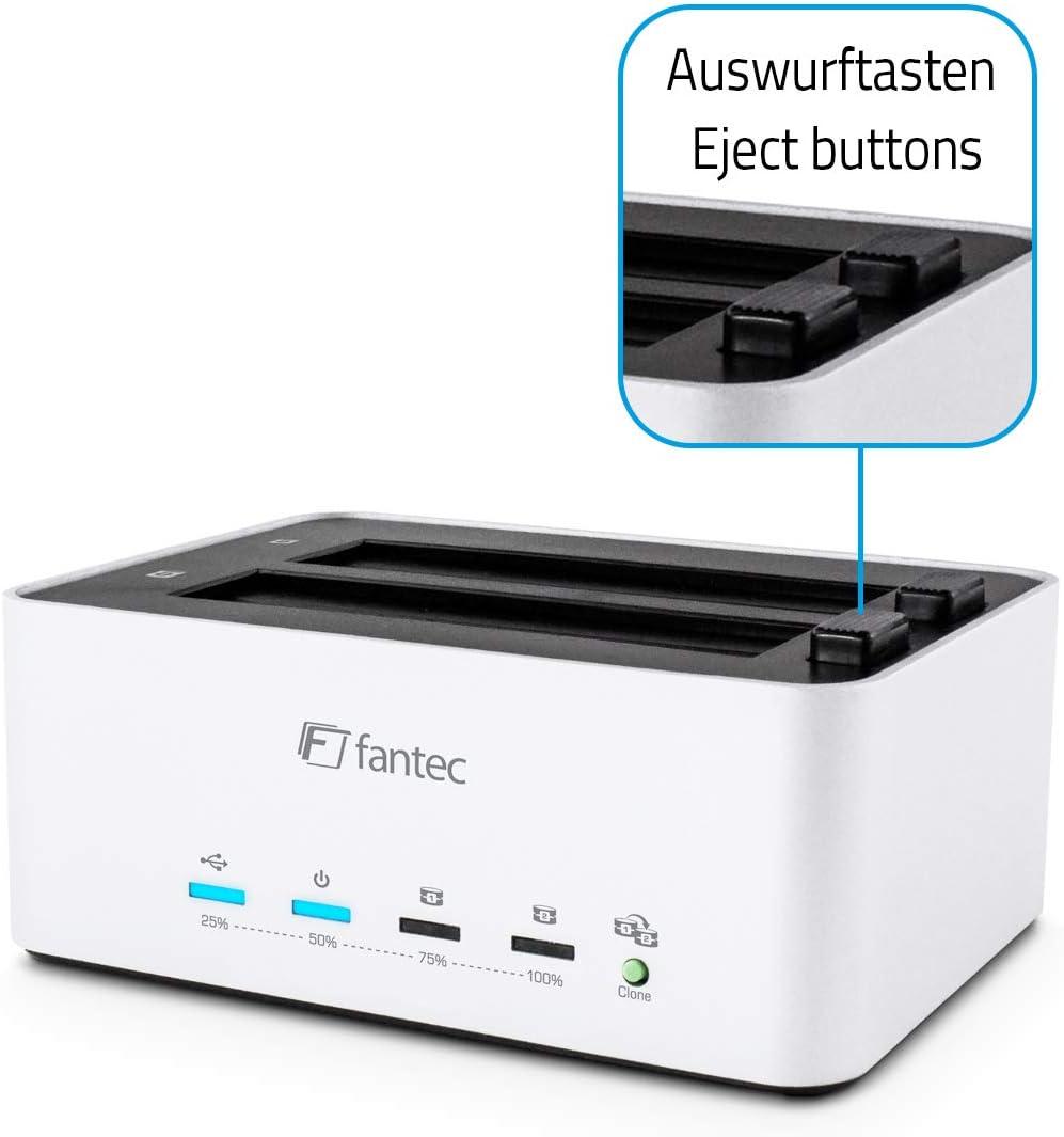 Fantec AluDOCK 2X - Estación de Acoplamiento para 2 Discos HDD o ...