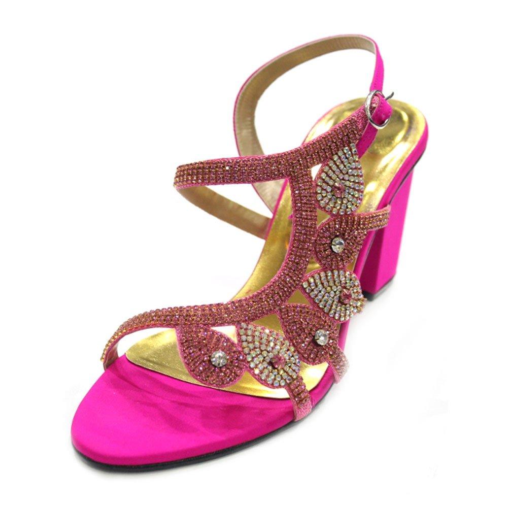 Wear & Walk UK MIZRA - Sandalias de fiesta para mujer, talla 37 a 45, color plata, oro, naranja, azul, rosa, verde , color rosa, talla 36.5