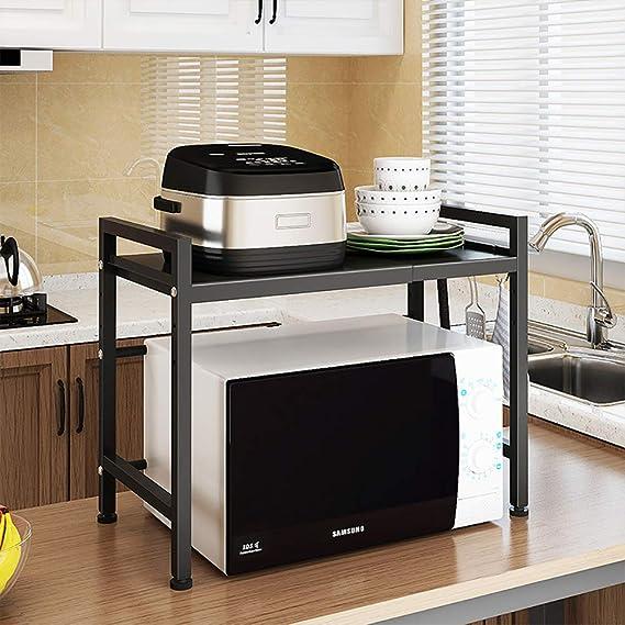 Amazon.com: SINGAYE - Estantería de doble capa para horno ...