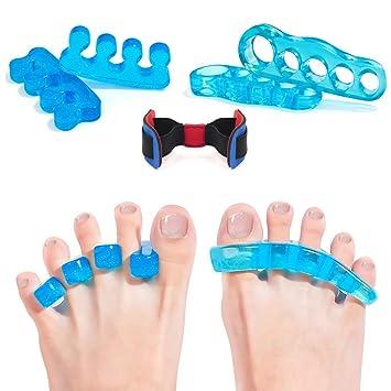Toe Separators Gel Straighteners Toe Spacers Yoga Toes Corrector Pedicure for Bunion Hammer Toe for Women Men