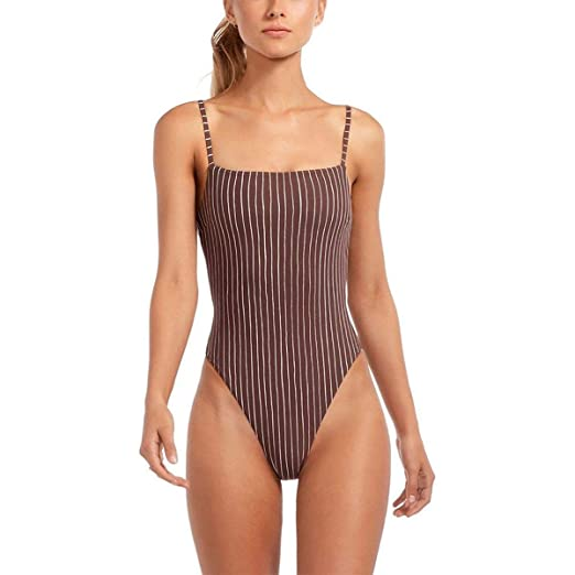 c14ffffadc3 Vitamin A Women's Edie Lingerie Strap One Piece Swimsuit (Full Cut) Swimsuit  at Amazon Women's Clothing store: