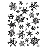 Christmas Holiday Time Reusable Wall Decoration Stickers - White Ornate Snowflakes
