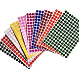 """Color Coding Labels 3/8"""" (0.375) inch 10 mm Round Dot Stickers - 10 Different Colors Dots Label - three eights inch rounds sticker 1540 pack"""