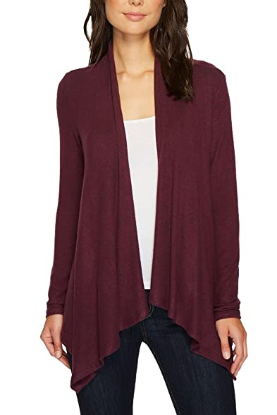 Bobeau Amie Waterfall Cardigan in Berry at Amazon Women's Clothing ...