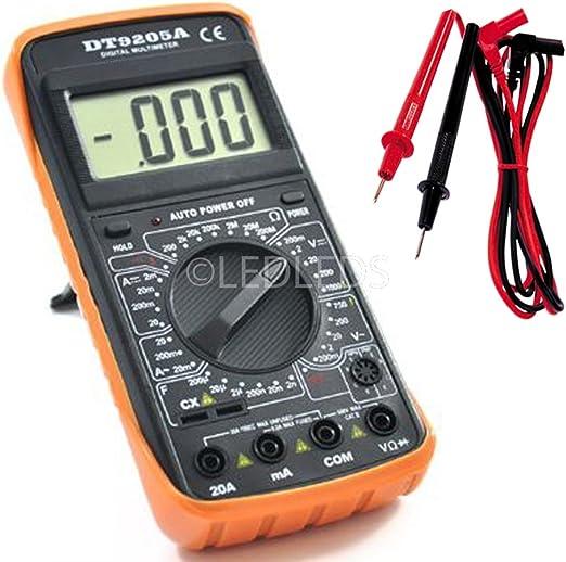 TESTER TENSIONE MULTIMETRO DIGITALE DT33D DISPLAY LCD E PUNTALI VOLT AMPERE