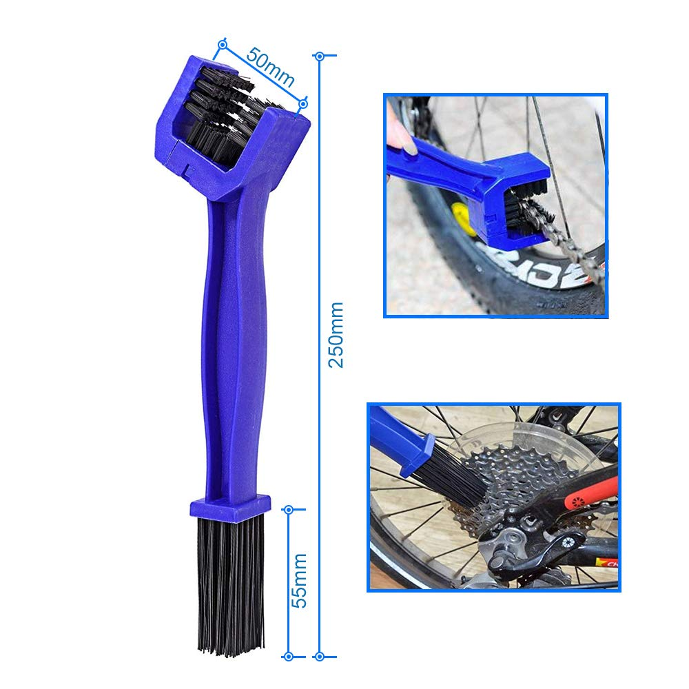 MMOBIEL 4 x Motorcycle Bicycle Chain and Gears Brush Cleaner Maintenance Cleaning Tool