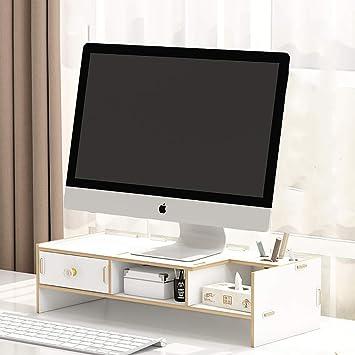 KKLTDI Ordenador Elevador De Monitor con Cajón, Madera TV Pantalla Soporte Escritorio Organizador Multi-función Almacenamiento Elevador De Monitor-a 47x20cm(19x8inch): Amazon.es: Electrónica