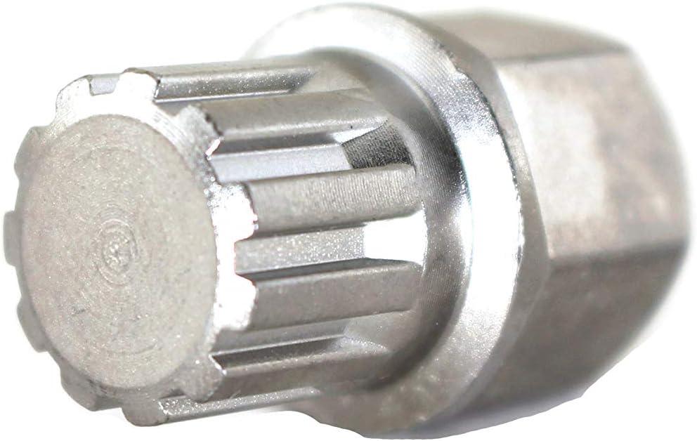TEMO 35//19Pt Wheel Lock Nut Screw Removal Key Anti-Theft Lugnut Socket S3054 for Bmw Vehicles