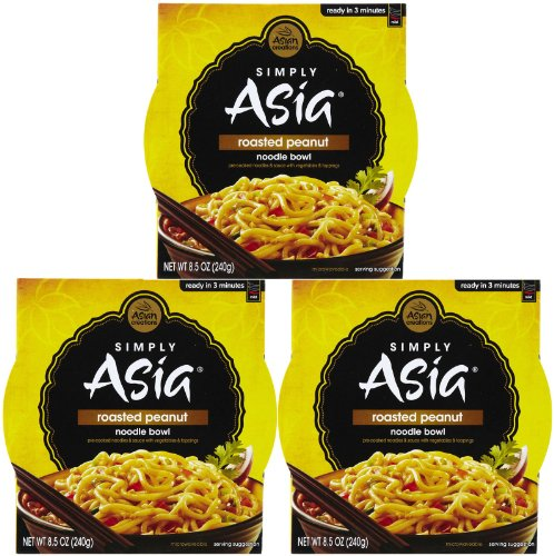 Simply Asia Roasted Peanut Noodle Bowl, 8.5 oz, 3 ()