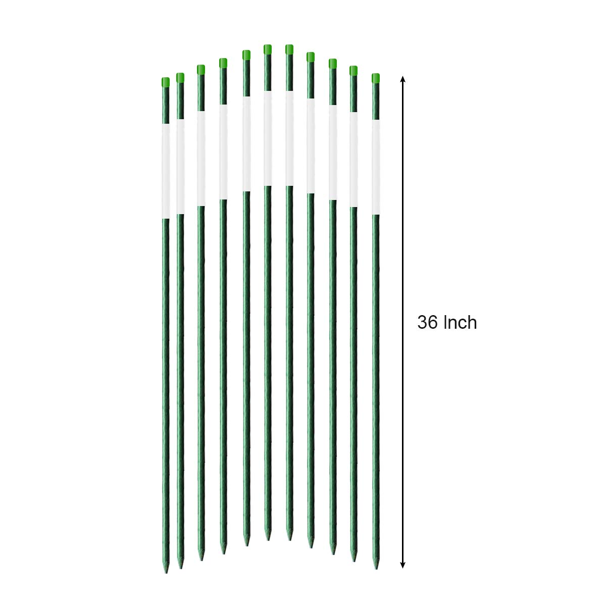 FiberMarker Reflective Driveway Markers 72-Inch Dark Green 20-Pack 5/16-Inch Dia Solid Driveway Poles for Easy Visibility at Night