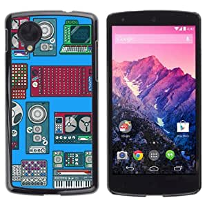 YOYOSHOP [Cool Retro Devices Illustration] LG Google Nexus 5 Case