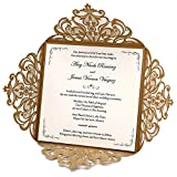 Doris Home Wedding Invitations Wedding invites Invitations Cards Wedding Invitations kit Square Gold Laser-Cut Lace Flower Pattern Wedding Invitations Cards,50pcs,CW519GO