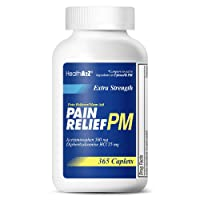 HealthA2Z Extra Strength Pain Relief PM, 365 Caplets, Compare to Tylenol PM Active Ingredient,Pain Reliever + Sleep Aid