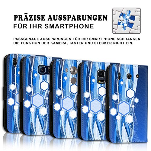 Wallet Book Style Flip Handy Tasche Case Schutz Hülle Schale Motiv Etui für Apple iPhone 4 / 4S - Design Flip MVD92