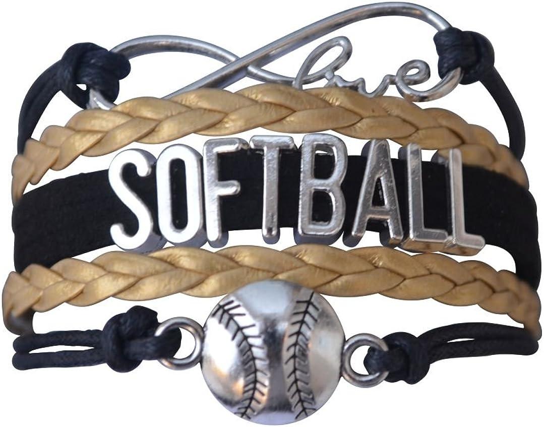 Softball Infinity Charm Bracelet- Softball Jewelry - Perfect Softball Player, Team and Coaches Gifts