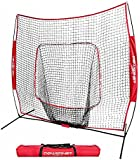 PowerNet Baseball and Softball Practice Net 7 x 7 with bow frame (w/ LIFETIME WARRANTY)