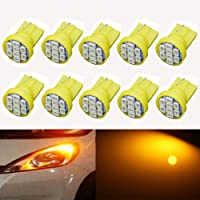 KaTur Super Bright 140LM Amber W5W 2825 175 168 558 LED 1206 8SMD Interior Dome Liscence Plate Signal Indicator Backup…