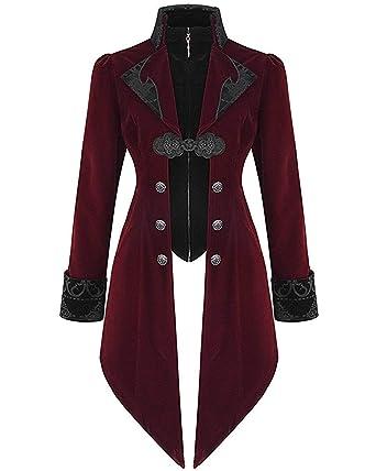 70cb7211e15aa5 Devil Fashion Womens Jacket Coat Red Velvet Gothic Steampunk Aristocrat  Regency: Amazon.co.uk: Clothing