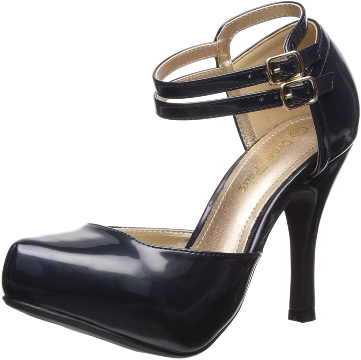 DREAM PAIRS Office-02 Women's Classy Mary Jane Double Ankle Strap Almond Toe High Heel Pumps New