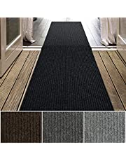 iCustomRug Spartan Weather Warrior Duty Indoor/Outdoor Utility Ribbed in 3ft,4ft,6ft Widths 70 Custom Sizes with Natural Non-Slip Rubber Backing 6' x 18' in Black