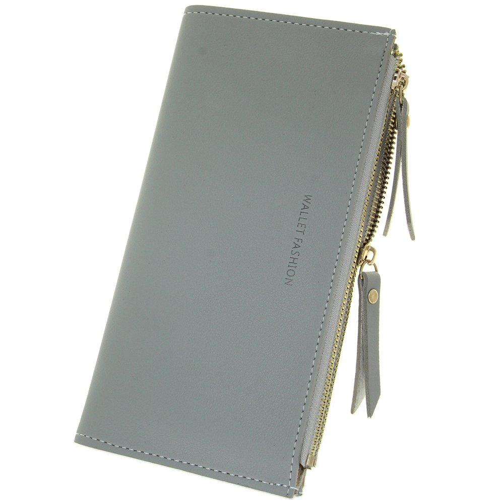 Double Zipper Card Holder Case Gift Purse Clutch Wallet Women Slim Designer Bifold Checkbook Lady Credit Card Holder Girls Smart Phone