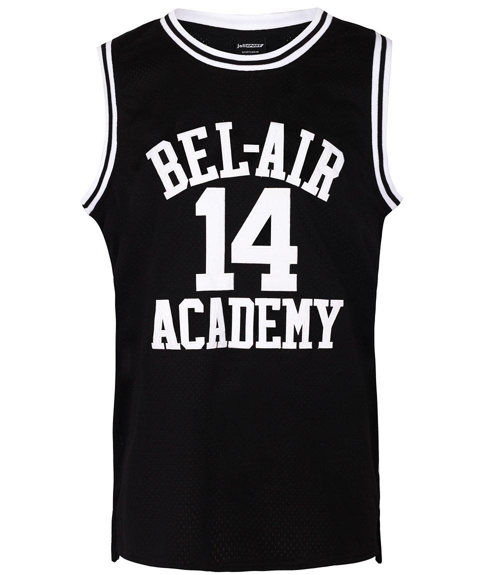 8778b395bdbe JOLI SPORT Smith  14 Bel Air Academy Black Basketball Jersey S-XXXL (Medium