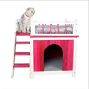 Petsfit Indoor Wooden Dog Pet Cat House With Stairs Dog House Ltd